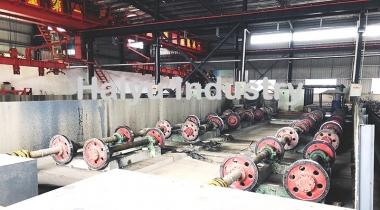 Concrete Pole Spinning Machine
